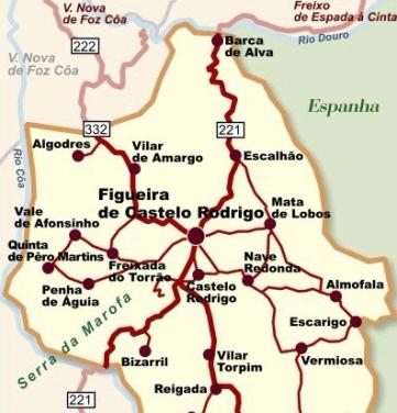 castelo rodrigo mapa Conhecer Portugal – Castelo Rodrigo | castelo rodrigo mapa