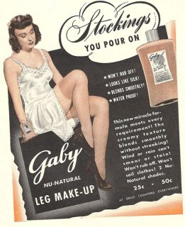 Anúncio de maquilhagem para pernas