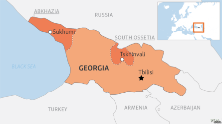 Mapa da Geórgia