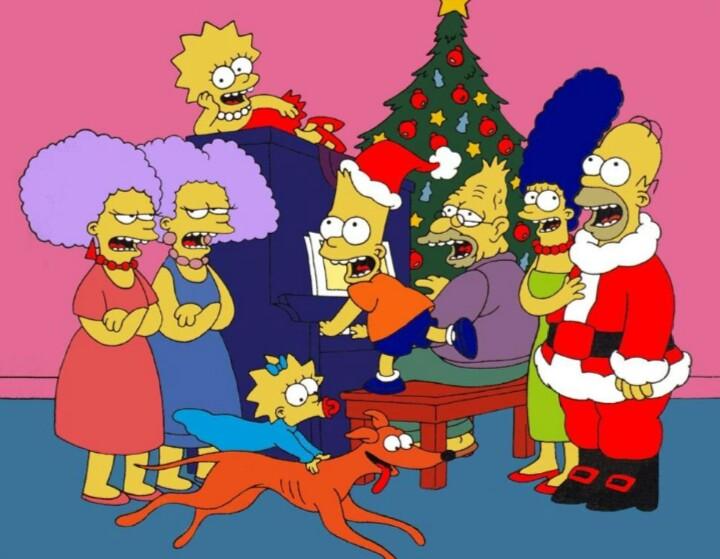 "O já referido episódio ""Simpsons roasting on an open fire"" (T1), primeiro episódio da série"